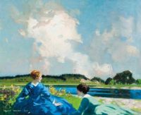 George Henry, Beside the Lake (1918)