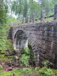 Old bridge over the canyon
