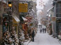 Christmas, Old Town Quebec City, Canada