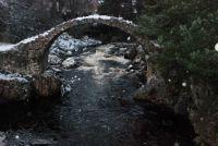 Coffin bridge Carrbridge Scottish Highlands......in the snow.