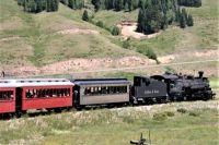 Steam Engine Climbing toward the pass