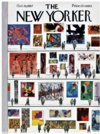 The New Yorker - October 19, 1957 / cover art by Anatole Kovarsky