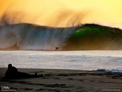 big wave at sunset-natgeo