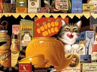 Charles Wysocki Tweeties Cat