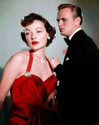 GENE TIERNEY  & RICHARD WIDMARK NIGHT & THE CITY - 1950