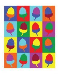 colorful acorns