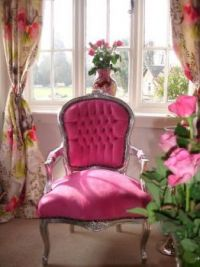 bright pink chair