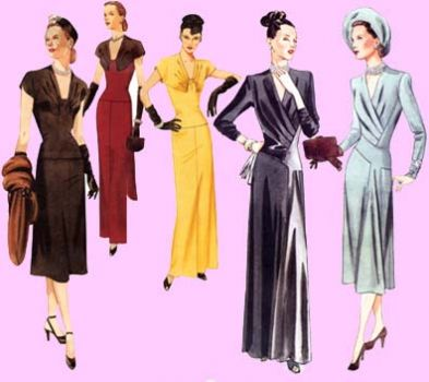 Sussie, dresses of yesteryear! :)