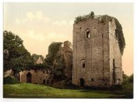 The Keep at Goodrich Castle, Ross on Wye, UK, circa 1908 Photochromatic Image
