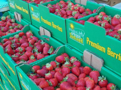 Strawberries galore in Oregon