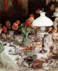 "Carl Larsson, ""Around the Lamp"""