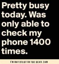Pretty busy today...