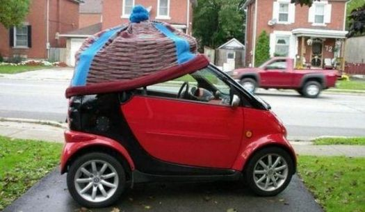 a cap on your Smart Car