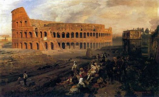 Colesseum, 1877 by Oswald Achenbach