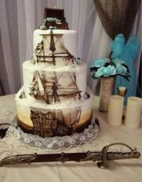 The pirate wedding cake of your dreams.