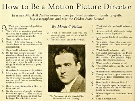 How To Be A Movie Director