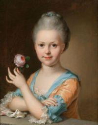ca. 1789 Johann Heinrich Tischbein Bildnis eines jungen Mädchens mit einer Rose