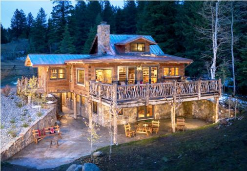 Log House with Harkwood Exterior on ranch