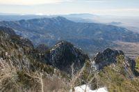 ON TOP OF SANDIA MOUNTAIN - NM