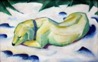 Dog Lying in the Snow ~ Franz Marc