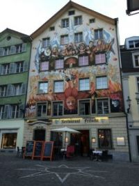 Lucerne, Switzerland building art (2)