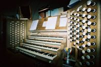 Guildford Cathedral organ console