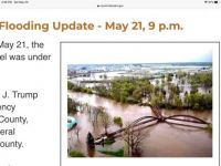 Midland, Michigan downtown area flooding