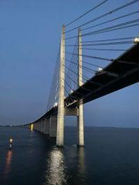 Oresunds bridge between Sweden and Denmark
