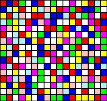 It's just a bunch of randomly coloured squares, what could possibly be difficult about that?