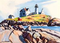 Cape Neddick Nubble (Nubble Lighthouse, York Beach, Maine), n.d., George Yater