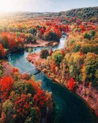 Fall colors in Mesick, Michigan