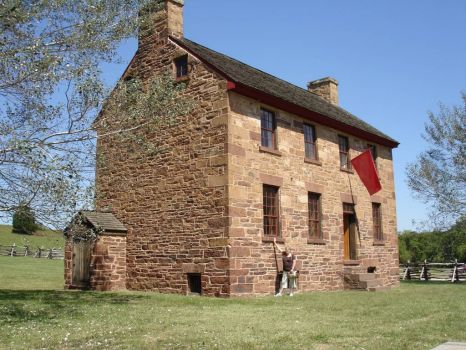 Brawner farmhouse near the battle of Monassas