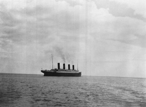 the RMS Titanic before it sunk in April 1912.