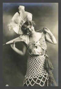 Vintage photo of a young lady