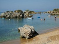 The beach at Stoupa in Greece