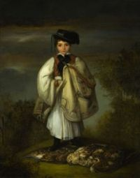The boy with a falcon