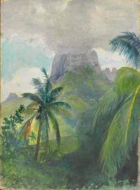The Peak of Maua Roa. Noon. Island of Moorea. Society Islands, John La Farge, 1891