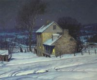 George William Sotter--Homestead at Night