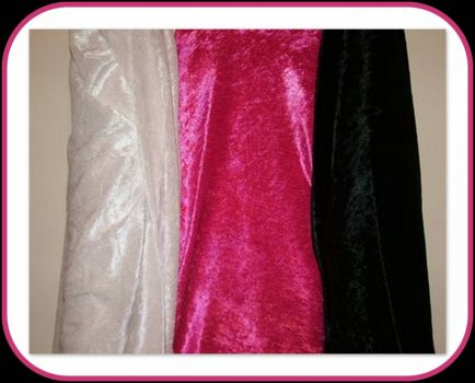 Pinknblack and White Velvet Bolts