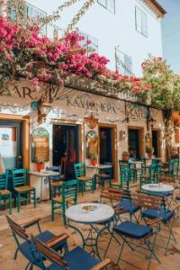 Cafe Kalimera in Gaios, main port on Paxos, the smallest of the seven principal Ionian Islands, Greece