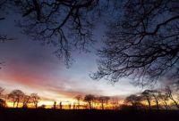 November sky in Devon