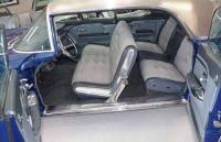1958 Cadillac Eldorado Brougham interior blue 4 door hardtop.