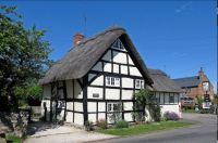 Letterbox. Cottage. Barton. Cambridgeshire.