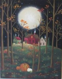 November Moon - Kim's Cottage Art