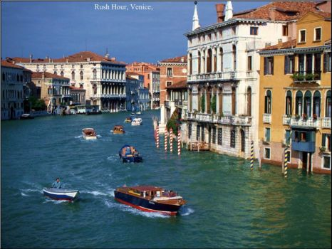 Rush hour in Venice