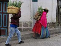Ecuador, mensen opweg naar markt