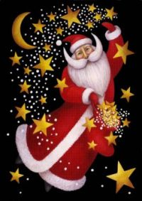 Santa, Moon and Stars