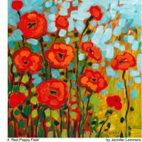 4  Red Poppy Field