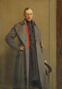 George Spencer Watson (British, 1869–1934),  Portrait of 2nd Lieutenant William Gilbert Houldsworth (1891–1914) of the 1st Batallion, Scots Guards (1924)