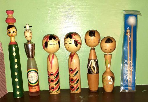 Kokeshi dolls #3